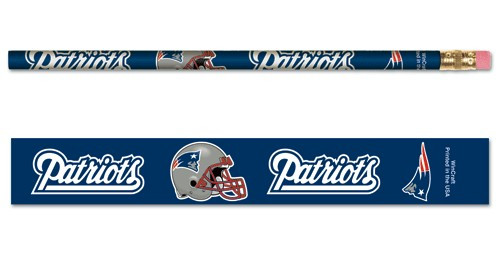New England Patriots Pencil 6 Pack
