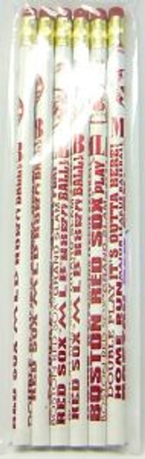 Boston Red Sox Pencil 6 Pack