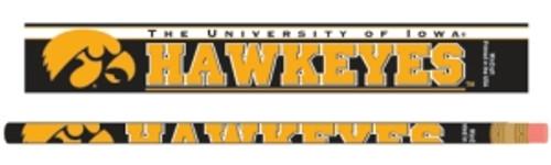 Iowa Hawkeyes Pencil 6 Pack