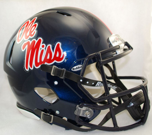 Mississippi Rebels Helmet Riddell Authentic Full Size Speed Style - Special Order