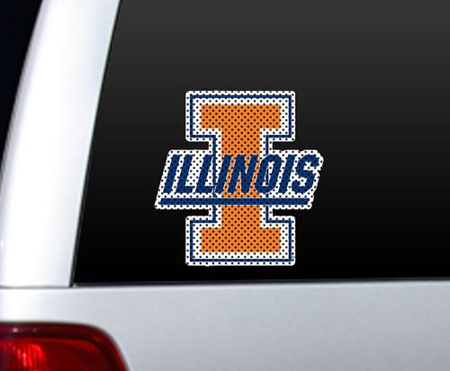 Illinois Fighting Illini Die-Cut Window Film - Large - Special Order