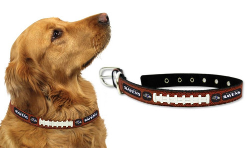 Baltimore Ravens Dog Collar - Size Medium