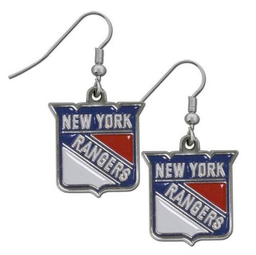 New York Rangers Dangle Earrings - Special Order