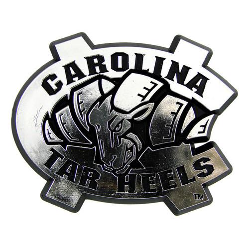North Carolina Tar Heels Auto Emblem - Silver