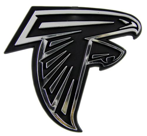 Atlanta Falcons Auto Emblem - Silver