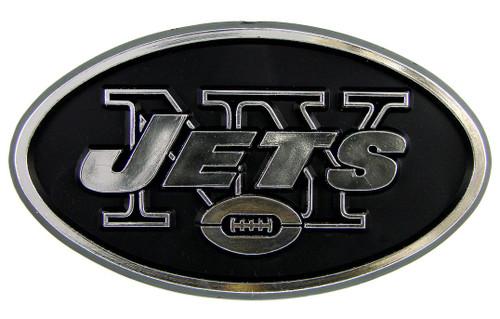 New York Jets Auto Emblem - Silver