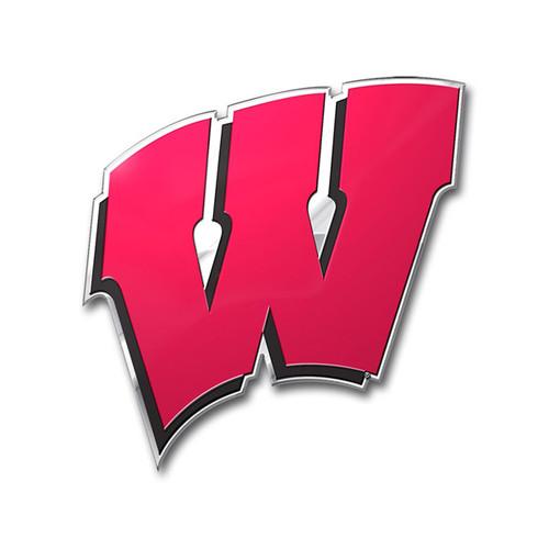 Wisconsin Badgers Auto Emblem - Color