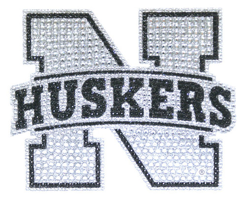 Nebraska Cornhuskers Auto Emblem - Rhinestone Bling