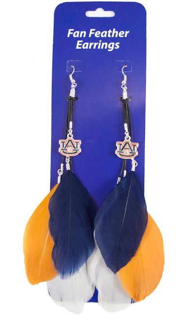 Auburn Tigers Team Color Feather Earrings CO