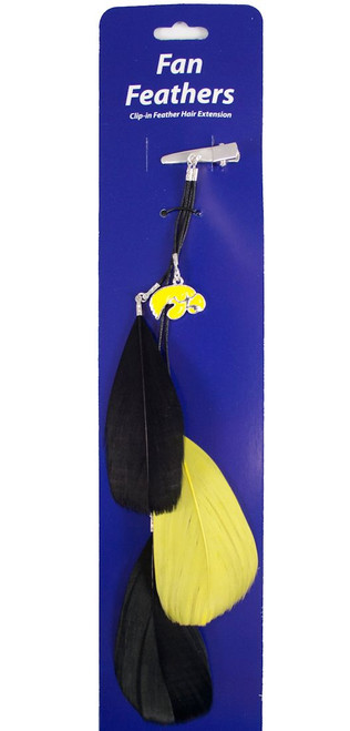 Iowa Hawkeyes Team Color Feather Hair Clip