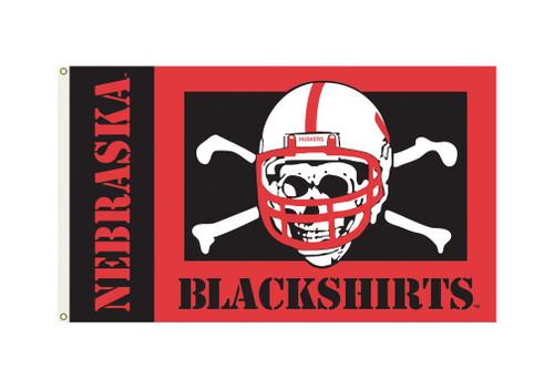 Nebraska Cornhuskers Flag 3x5 Blackshirts