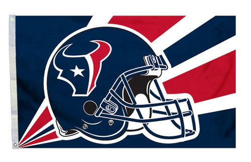 Houston Texans Flag 3x5 Helmet Design - Special Order