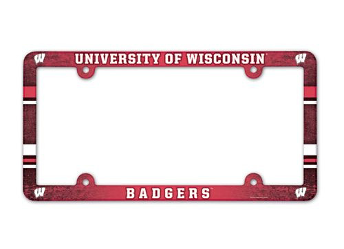 Wisconsin Badgers License Plate Frame - Full Color
