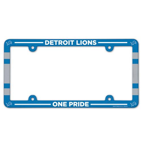 Detroit Lions License Plate Frame Plastic Full Color Style