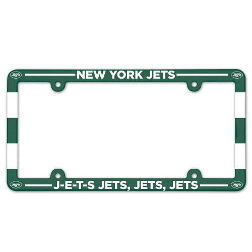 New York Jets License Plate Frame Plastic Full Color Style