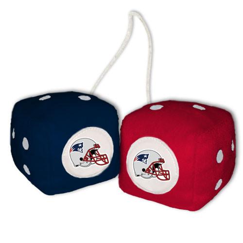 New England Patriots Fuzzy Dice CO