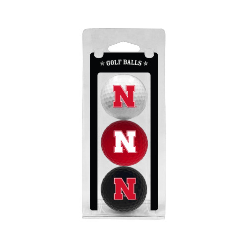 Nebraska Cornhuskers 3 Pack of Golf Balls