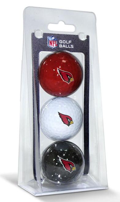 Arizona Cardinals 3 Pack of Golf Balls - Special Order