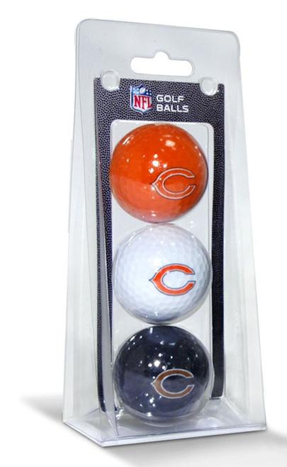 Chicago Bears 3 Pack of Golf Balls