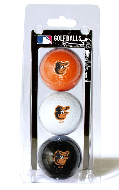 Baltimore Orioles 3 Pack of Golf Balls - Special Order