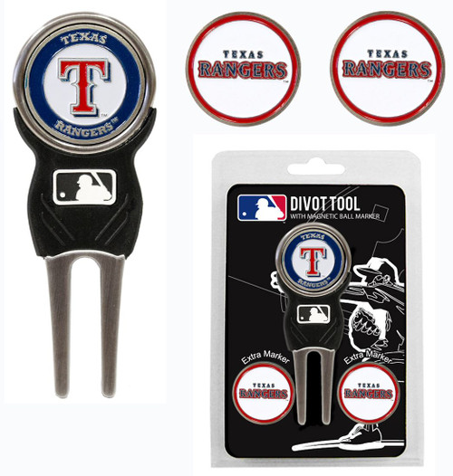 Texas Rangers Golf Divot Tool with 3 Markers - Special Order