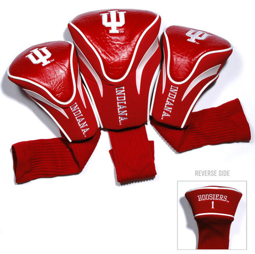 Indiana Hoosiers Golf Club 3 Piece Contour Headcover Set - Special Order