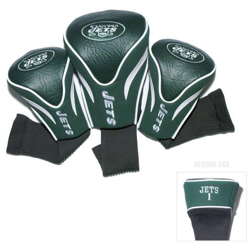New York Jets Golf Club 3 Piece Contour Headcover Set - Special Order