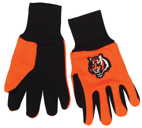 Cincinnati Bengals Two Tone Youth Size Gloves