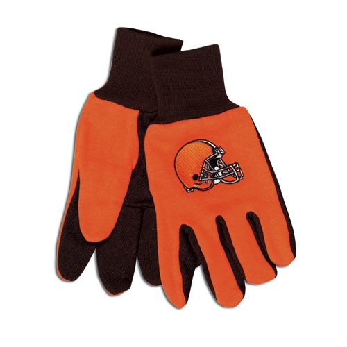 Cleveland Browns Two Tone Adult Size Gloves