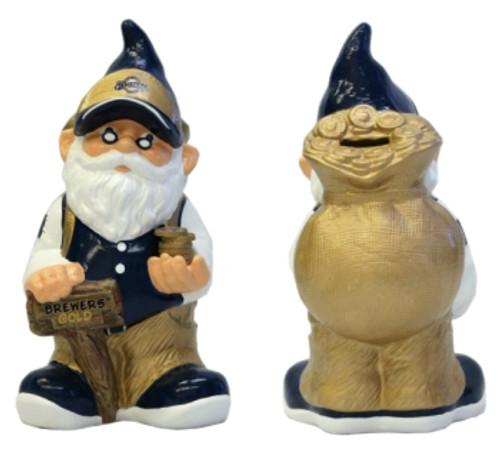 Milwaukee Brewers Garden Gnome - Coin Bank CO