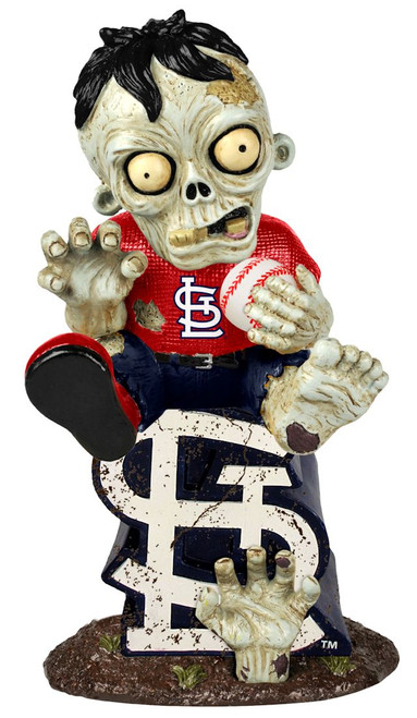 St. Louis Cardinals Zombie Figurine - On Logo