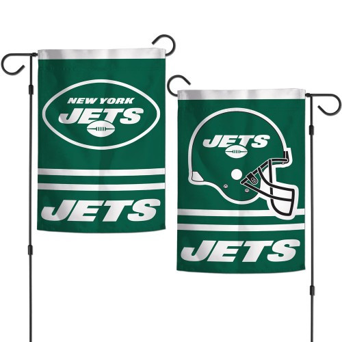 New York Jets Flag 12x18 Garden Style 2 Sided