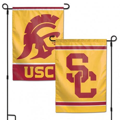 USC Trojans Flag 12x18 Garden Style 2 Sided