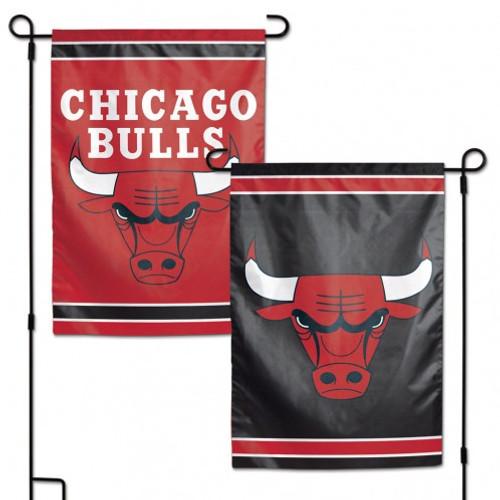 Chicago Bulls Flag 12x18 Garden Style 2 Sided