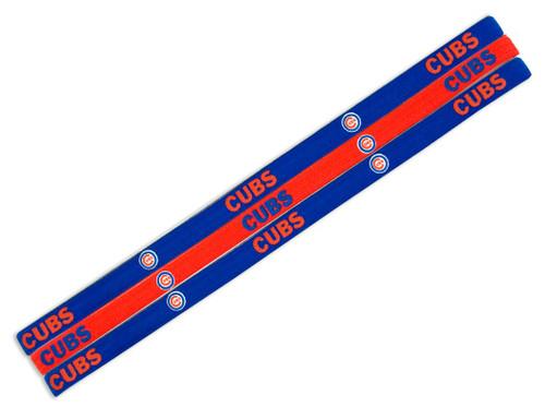 Chicago Cubs Elastic Headbands - Special Order