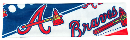 Atlanta Braves Stretch Patterned Headband - Special Order
