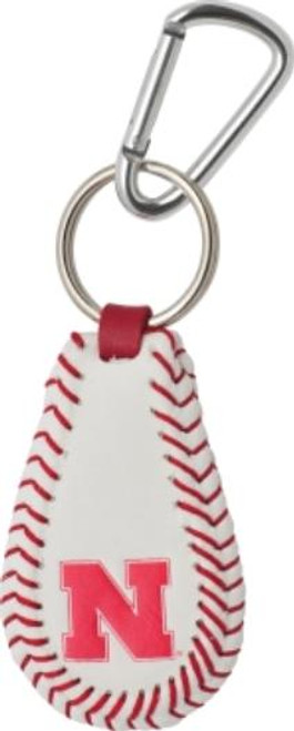 Nebraska Cornhuskers Keychain - Classic Baseball