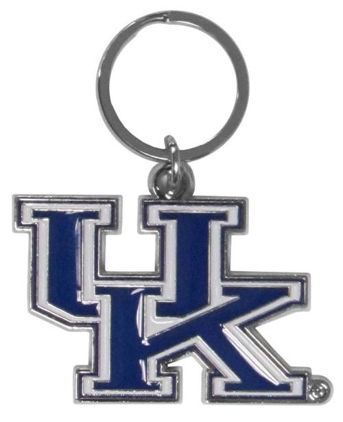 Kentucky Wildcats Chrome Logo Cut Keychain