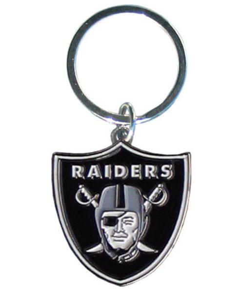 Las Vegas Raiders Chrome Logo Cut Keychain