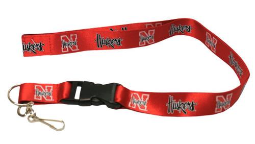 Nebraska Cornhuskers Lanyard - Breakaway with Key Ring