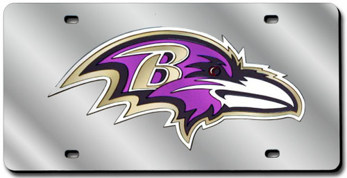 Baltimore Ravens License Plate Laser Cut Silver
