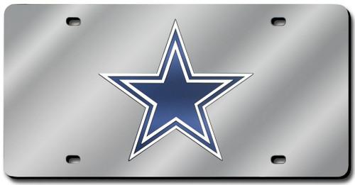 Dallas Cowboys License Plate Laser Cut Silver