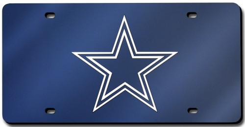 Dallas Cowboys License Plate Laser Cut Navy