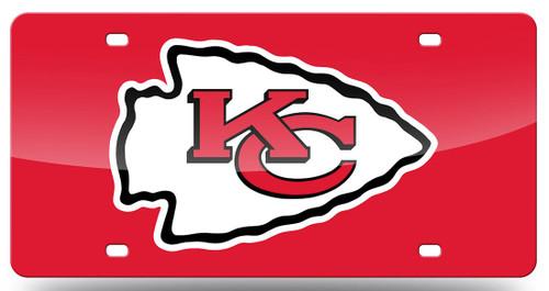 Kansas City Chiefs License Plate Laser Cut Red