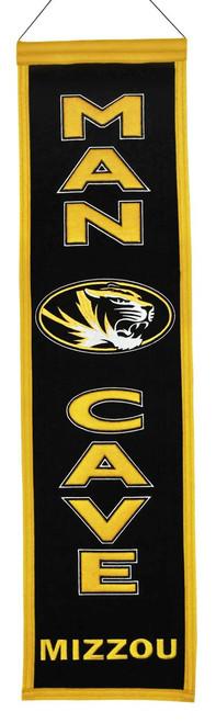 Missouri Tigers Banner 8x32 Wool Man Cave