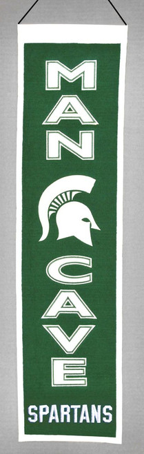 Michigan State Spartans Banner 8x32 Wool Man Cave