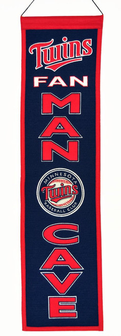 Minnesota Twins Banner 8x32 Wool Man Cave