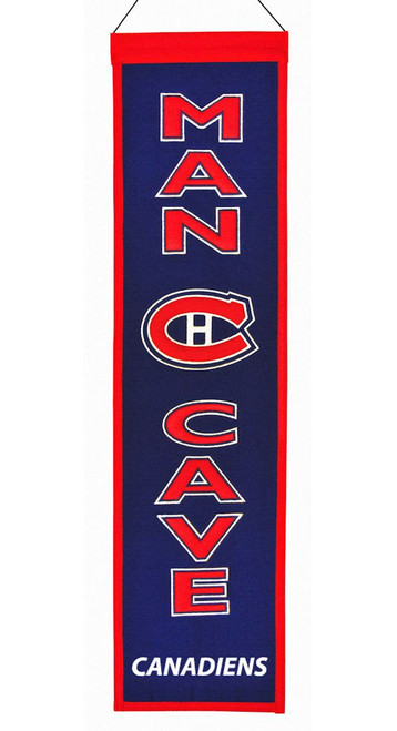 Montreal Canadiens Banner 8x32 Wool Man Cave
