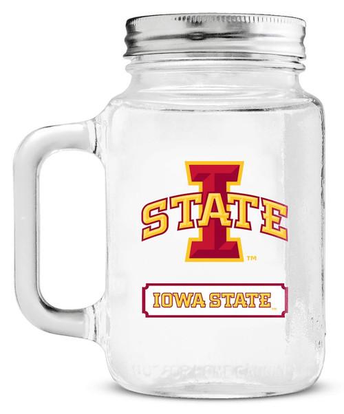 Iowa State Cyclones Mason Jar Glass With Lid