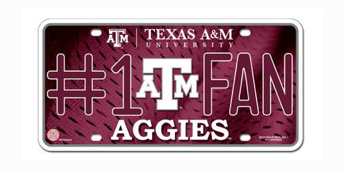 Texas A&M Aggies License Plate #1 Fan